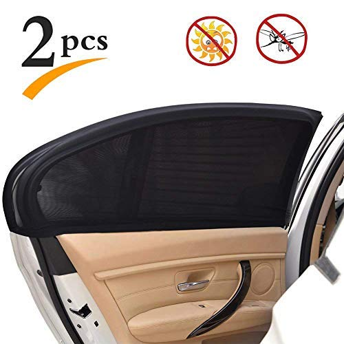 Uarter Universal Rear Side Window Baby Kid Pet Breathable Sun Shade Mesh Backseat (2 Pcs) Fits Most...
