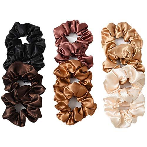12 Stukken Haar Scrunchies, Satijn Elastische Haarbanden Kleurrijke Haarbanden Haaraccessoires voor Vrouwen of Meisjes