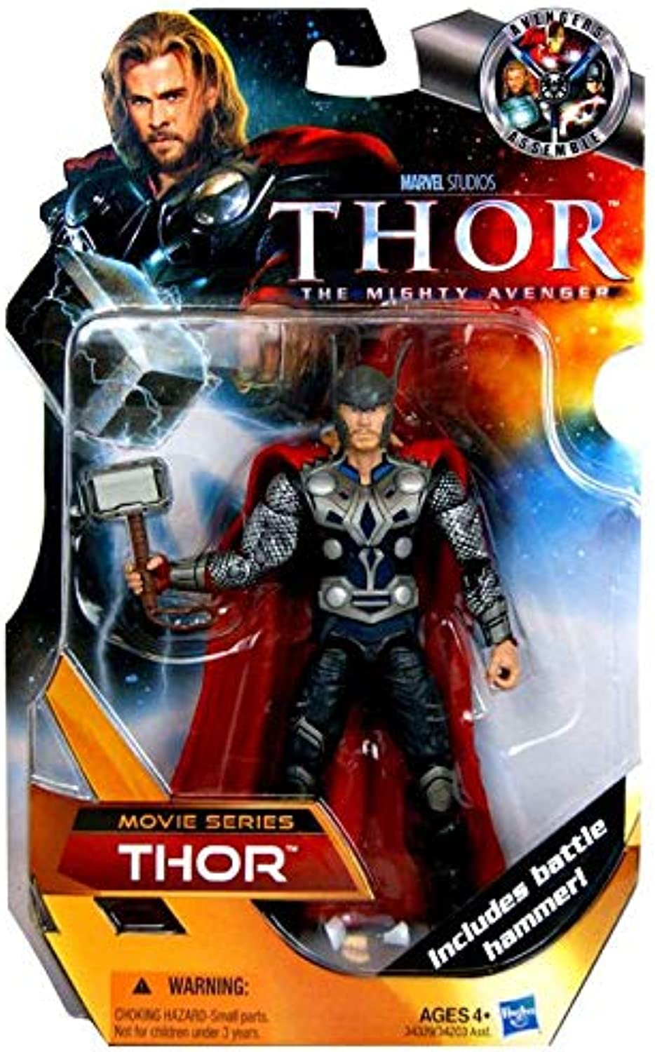 Marvel - 34339 - Thor - Avengers Assemble - Movie Series - Thor mit Hammer - ca. 16 cm