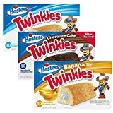 Hostess Twinkie Variety Pack   Original, Chocolate, Banana   3 10-Packs (30 Total)
