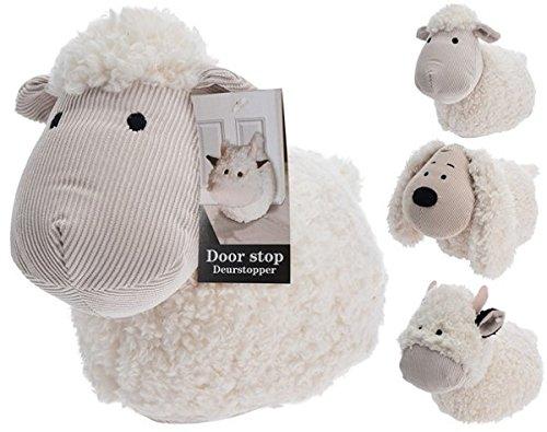 Türstopper aus flauschigem Stoff, Design: Schaf, Kuh, Hund