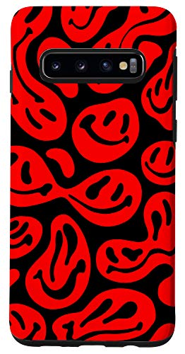 Galaxy S10 Trippy Smiley Face Emoji Happy Psychedelic Smile Face Phone Case