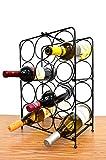 Superiore Livello Napoli 12 Bottle Free Standing Wine Rack, Wine Holder Free Standing Metal Rack for Floor Modern Scroll Art Design Wine Bottle Storage Rack Perfect Floor Standing Wine Storage Rack