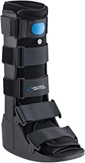 United Ortho Air Cam Walker Fracture Boot, Large, Black