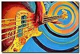 Surfilter Impresión en lienzo Guitarra abstracta Música Im