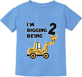 2nd Birthday - Bulldozer Construction Party Toddler Toddler Kids T-Shirt