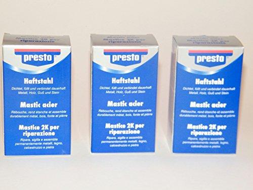 3 x Presto Haftstahl a 125 Gramm Dose= 375 Gramm Sparpack