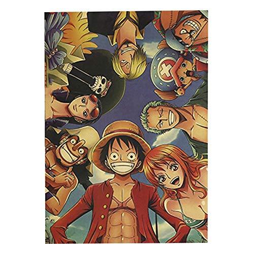 Haushele OFD Anime Death Note Tokyo Ghoul One Piece Naruto Dragon Ball Sammlung Poster Cafe Bar Thema Dekoration Poster Home Schlafzimmer Dekoration Malerei(H03)