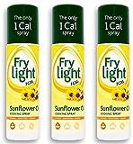 3 x Frylight Sunflower Oil Cooking Spray 190 ml ( Pack of 3 ) Bulk Deal!