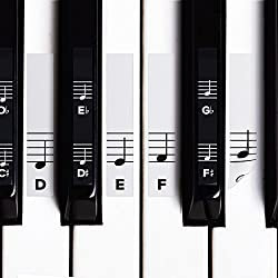 Piano Stickers for White & Black Keys by crbn