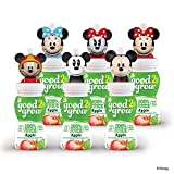 good2grow Mickey and Minnie Character 100% Apple Juice, 6-pack of 6-Ounce Spill-proof Character Top Bottles, Non-GMO with No Sugar Added and Excellent Source of Vitamin C