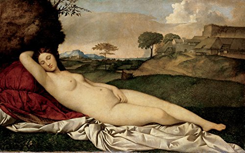 Berkin Arts Giorgione Giclee Canvas Print Paintings Poster Reproduction Large Size(Sleeping Venus)
