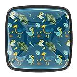YATELI Lindo bebé de Dibujos Animados Azul pájaro Dodo Perillas de extracción de para gabinetes, armarios, Puertas y cajones de Muebles: se Venden como un Paquete de 4 perillas
