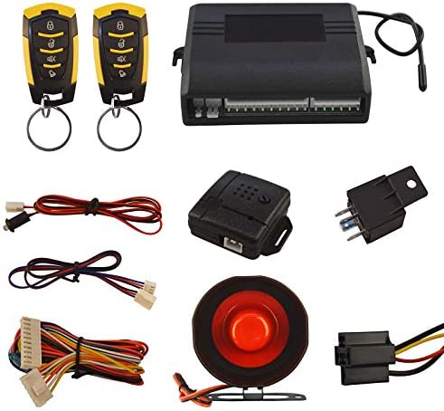 Car Security Alam Keyless Entry System with 2 Remote Controls Siren Sensor 12V Universal Remote product image