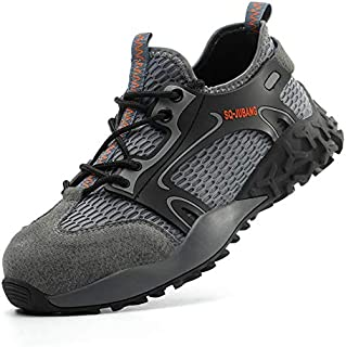 Steel Toe Indestructible Work Shoes for Men Women Industrial Construction Breathable Sneakers Lightweight Non Slip Outdoor Shoes