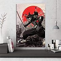 キャンバス塗装 ウォールアートモジュラー写真漫画の抽象的な英雄図ポスターリビングルームの家の装飾プリント 50*75cm