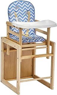 Skrivbordstol Barstolar Barnstol Matstol Massivt Trä Barns Matbord För Hushållsbruk, Trevägs Säkerhetsbälte, Kudddyna, Per...
