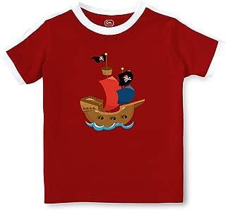 Pirate Ship 2 Short Sleeve Crewneck Boys-Girls Toddler Cotton Soccer T-Shirt