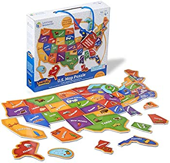 44-Pieces Learning Resources Magnetic U.S. Map Puzzle