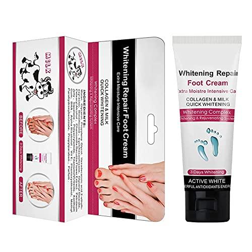 U-BUYHOUSE Milk Whitening Cream for Hands And Feet Milk Repair Foot Cream Cracked Heel Cream Feet Footcream for Dry And Crack