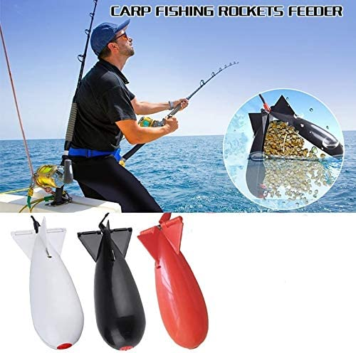 CJCGLOBAL 3Pcs 2020 New Carp Fishing Feeder Rocket Floats Fishing Feeder Large Carp Fishing Spod Bomb Bait Rockets Carp Fish Tackle Tool