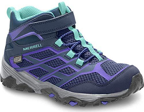 Merrell Ml-s Moab Fst Mid A/c Waterproof, Chaussures de Randonnée Hautes fille - Bleu (Navy), 38 EU (6 UK)