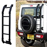 Bosmutus Aluminum Rear Door Ladder for S-UZUKI J-IMNY 2018-2019 JB64 JB74W 4WD Off-Road Rear Climbing Ladder
