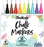 1mm Extra Fine Tip Chalk Markers (10 Pack) Neon Color Chalk pens |