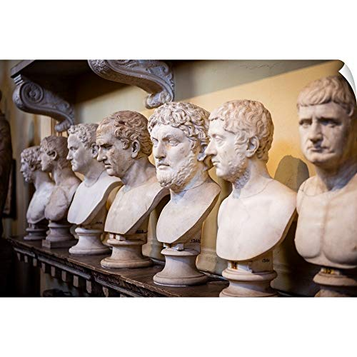 """CANVAS ON DEMAND Sculptures in The Vatican History Museum, Vatican City, Italy, Europe Wall Decal, 60""""x40"""""""