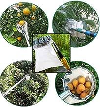 Fruit Picking Tools,stainless steel Fruit Picker Head Basket,Telescoping Long Fruit Picking Pole Head,Portable Metal Fruit Bag Collectors (White)