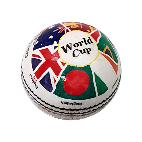 Cricket World Cup Cricketball, Multi Colors, Official Size & Weight