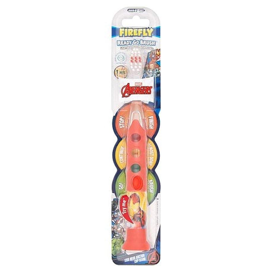 落ち着く入射ベース[Firefly ] アベンジャーズ準備ができて、外出先のブラシ歯ブラシ - Avengers Ready Go Brush Toothbrush [並行輸入品]