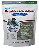 ARK Naturals Breathless Brushless Toothpaste Gray Muzzle Friendly Chewable 7.8z