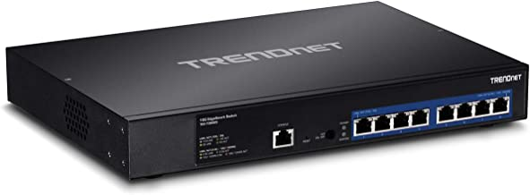 TRENDnet 8-Port 10G EdgeSmart Switch, 8 x 10GBASE-T Ports, Supports 2.5G/5G NBASE-T, 160Gbps Switch Capacity, 1U Rack Mountable, 10G Managed Ethernet Network Switch, Lifetime Protection, TEG-7080ES
