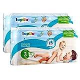 Pañales Lupilu para bebé, ultra secos pañal con canal de aire pant Niño niña (Talla 3 | 112 unidades | 4 - 10 kg)