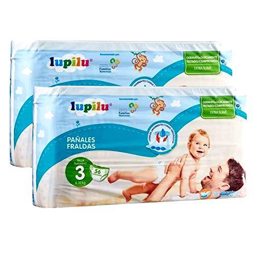 Pañales Lupilu para bebé, ultra secos pañal con canal de