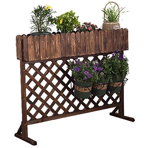 Lfixhssf en Bois Massif Fleur Floor Stand Boîte à Fleurs Simple Mode Pot Shelf Jardin extérieur Clôture 96 × 24 × 99cm / 120 × 25 × 99cm Lfixhssf (Taille : 120 * 25 * 99cm)