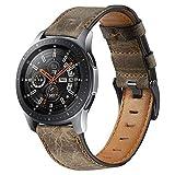 Correa de cuero para bricolaje compatible con Galaxy Watch de 46 mm, correa Gear S3 Frontier, 2 mm, correa de 2 gt, correa de 46 m (color: café, tamaño: reloj Galaxy 46 mm)