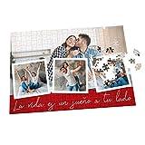 Puzzle con Collage Personalizado con Fotos y Frase - Varios tamaños - 192 Piezas
