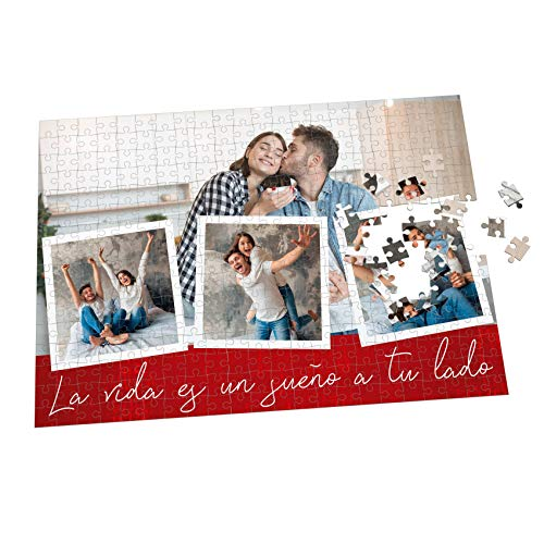 Puzzle con Collage Personalizado con Fotos y Frase - Varios