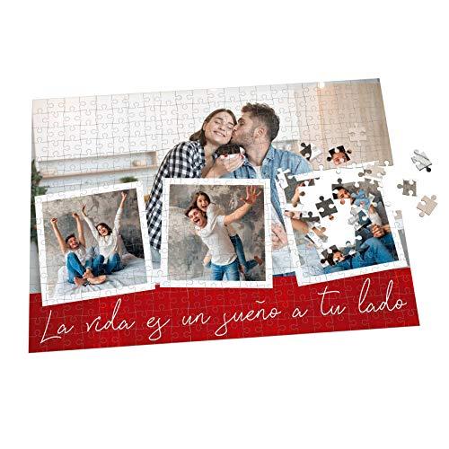 Puzzle con Collage Personalizado con Fotos y Frase   Varios tamaños   360 Piezas