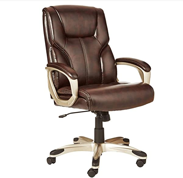 Zcx Swivel Chair Computer Lounge Chair Home Office Desk Chairs High Back Executive Swivel Chair Black Color Brown