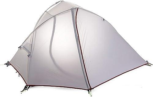 IDWOI-Tente Festival Tige en Aluminium Tente épaissir Imperméable Coupe-Vent Portable Tente Unique pour L'extérieur Camping Plage,Blanc