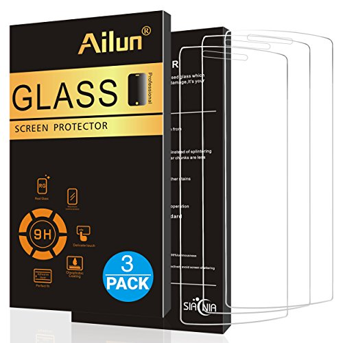 Ailun Screen Protector for LG G4 3 Pack Tempered Glass 9H Hardness 2.5D Edge Ultra Clear Transparency Anti Scratches Case Friendly Siania Retail Package