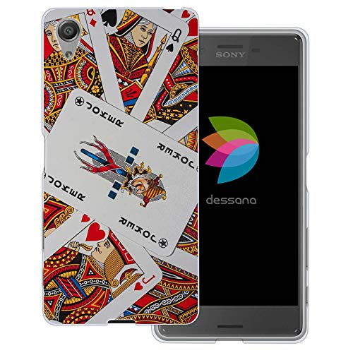 dessana Glücksspiel Casino transparente Schutzhülle Handy Case Cover Tasche für Sony Xperia X Kartenspiel