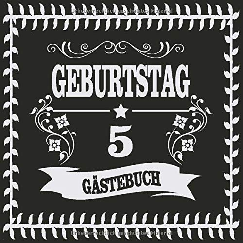 5 Geburtstag Gästebuch: Cooles Geschenk zum 5. Geburtstag Geburtstagsparty Gästebuch Eintragen von...