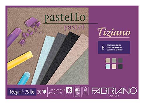 Honsell 46221297 - Fabriano Tiziano Block Grautöne, DIN A4, 30 Blatt, 160 g/m², hoch hadernhaltig, säurefrei und alterungsbeständig, griffige, raue Oberfläche