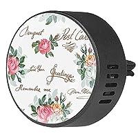 エッセンシャル オイル ベント クリップ用カー ディフューザー、春のローゼーアート ,2 パック 40mm アロマセラピー芳香剤