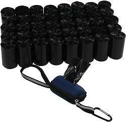 Ramddy Leak-Proof Dog Waste Bags with Dispenser, 40 Rolls Black Pet Poop Bags, 1400 Count