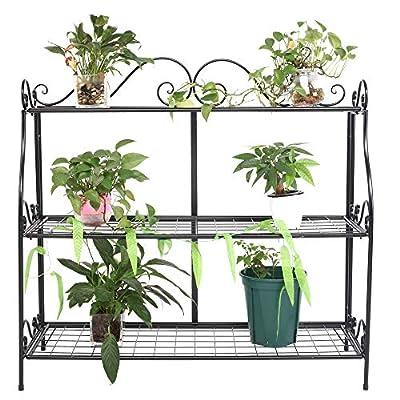 3 Tiers Plant Stand Holder Flower Rack Shelves ...